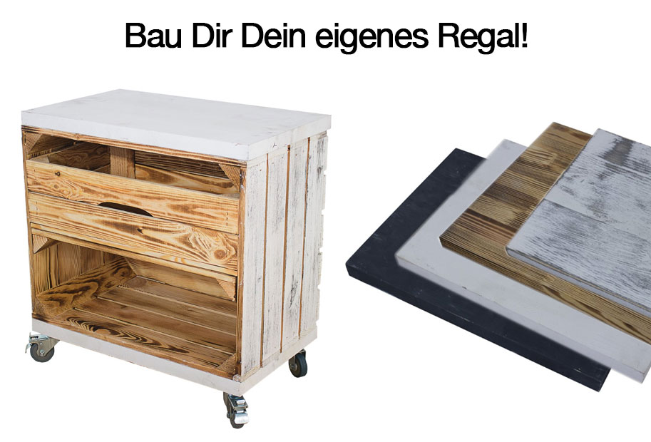 Mit unserem Planungstool kannst Du diverse kreative Holzmöbel gestalten. Möglichkeiten wären etwa:  ein Lowboard / eine TV Bank für Wohn- oder Schlafzimmer ein Sideboard für den Flur ein gemütliches Sitzregal mit Platz für Schuhe oder Bücher Schuhregale / Bücherregale oder auch großzügige Regalsysteme ein Couchtisch mit Stauraum oder ein Lounge Tisch für die Terrasse Beistelltische für Pflanzen und Dekoration im Haus oder auf dem Balkon rustikale DIY Hocker oder Sitzbänke Neugierig geworden? Dann probiere es einfach aus - Du wirst  begeistert sein!
