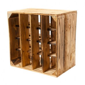 weinlagerung weinregal aus holz geflammt 50x40x27cm. Black Bedroom Furniture Sets. Home Design Ideas