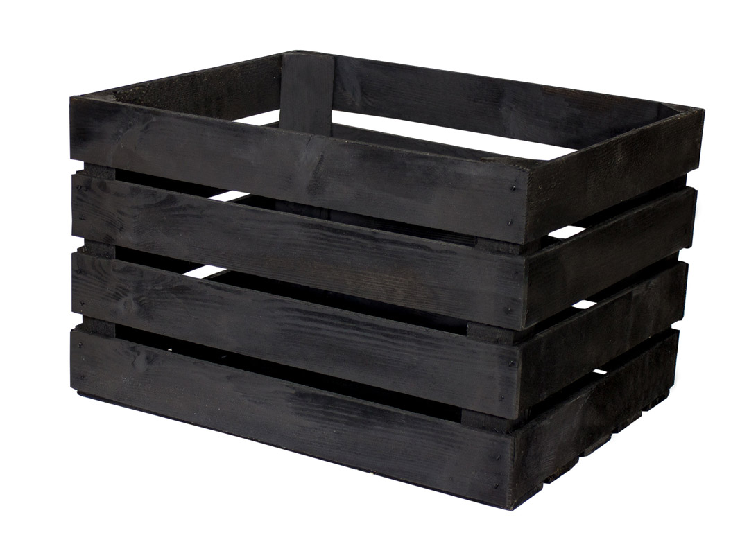 54x Schwarze Apfelkiste