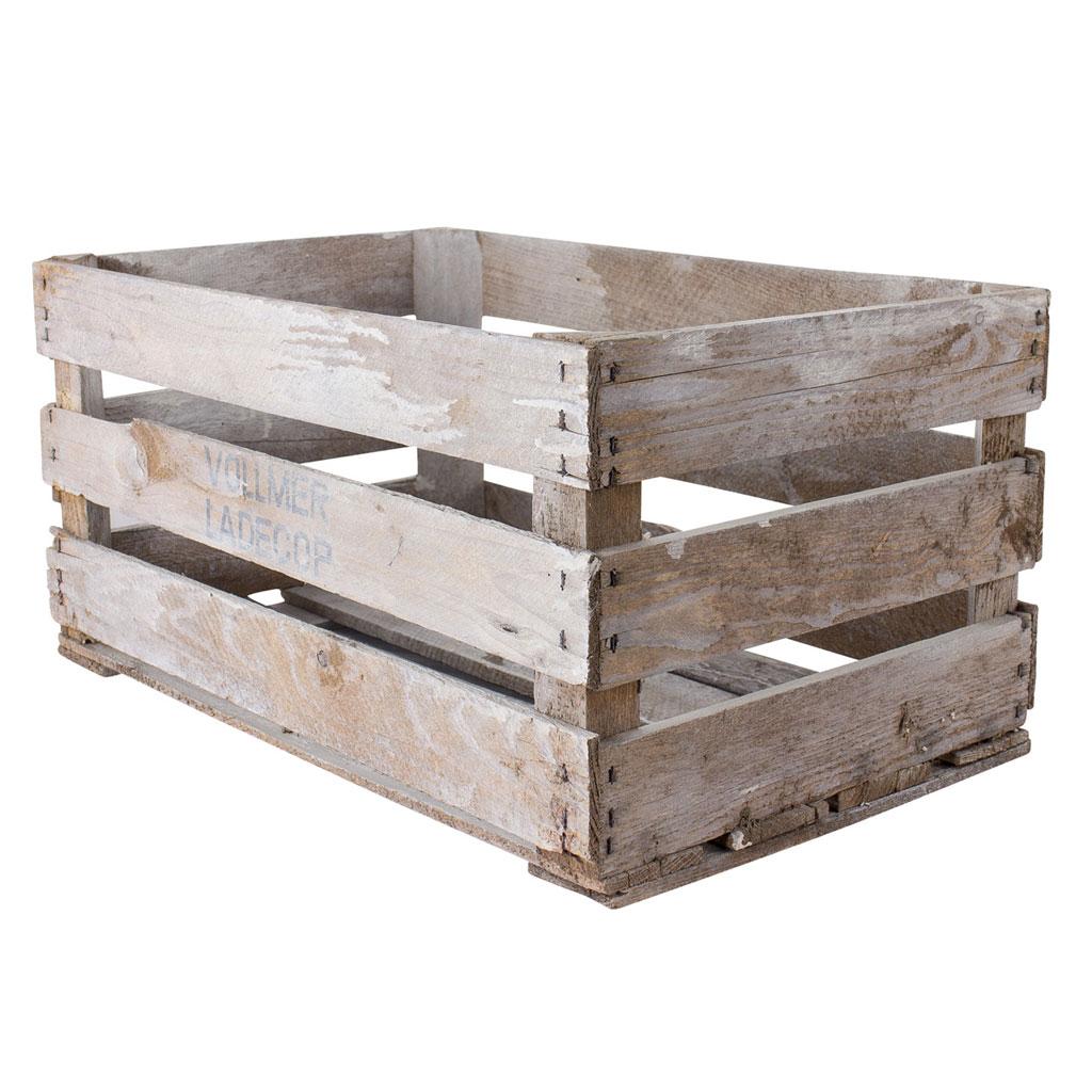 Große 25kg Shabby - Kiste mit Längsbodenbrettern 60x38x32cm