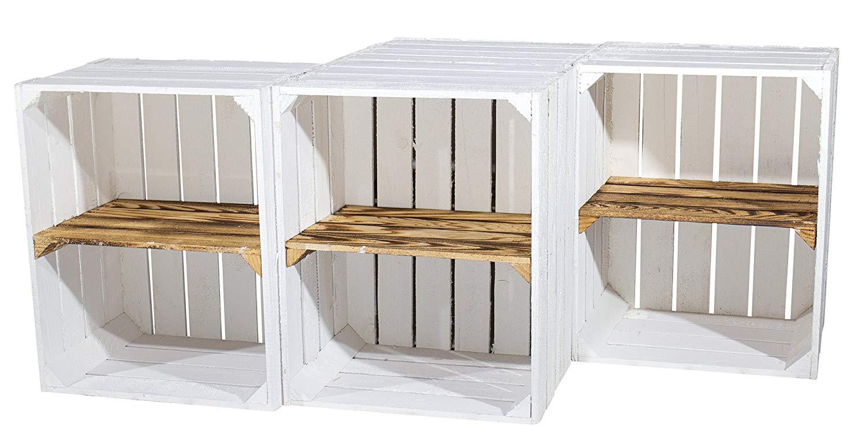 wei wei e holzkiste mit geflammtem mittelbrett quer 50x40x30cm obstkisten online shop. Black Bedroom Furniture Sets. Home Design Ideas