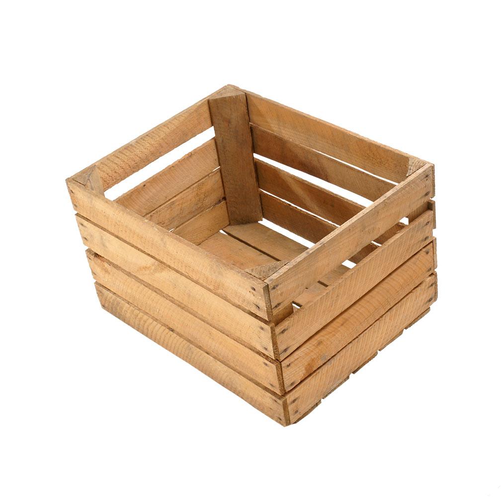4x /// B-Ware /// Stabile helle Kiste ohne Aufdruck 50x40x30cm