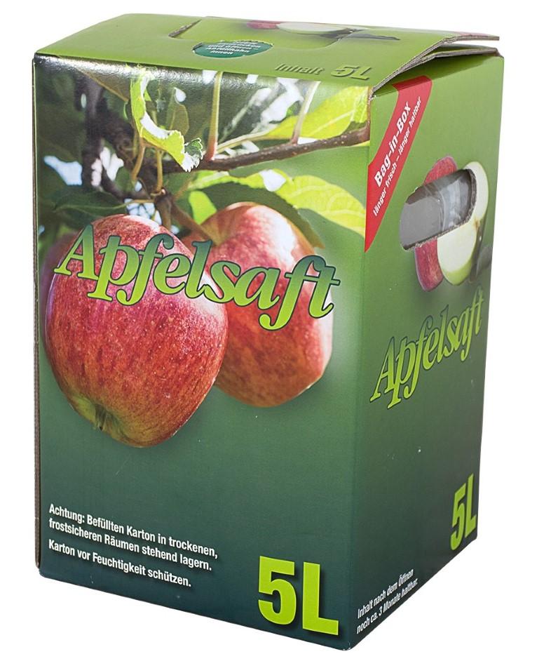 100% naturtrüber Apfelsaft in der praktischen 5 Liter Saftbox