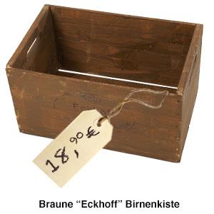 Braune 30 Pfund Eckhoff Birnenkiste