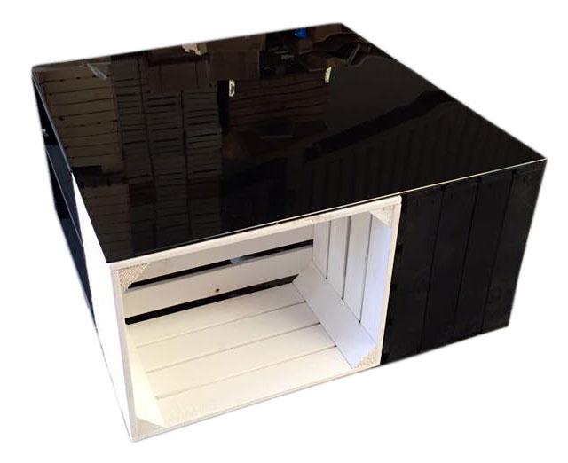 restposten couchtisch aus wei en und schwarzen. Black Bedroom Furniture Sets. Home Design Ideas