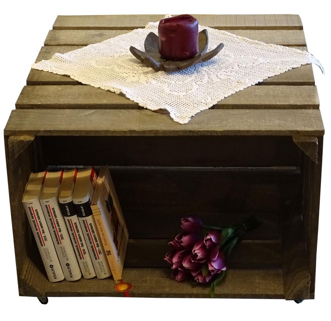 beistelltische beistelltisch aus dunkelgrauen kisten obstkisten deutschlands. Black Bedroom Furniture Sets. Home Design Ideas
