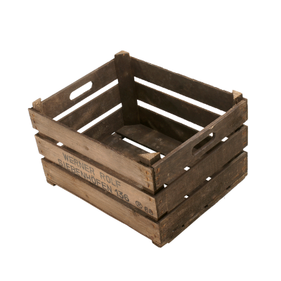 Dunkle Bundesformat Kiste mit Tuppen 49x39x29cm