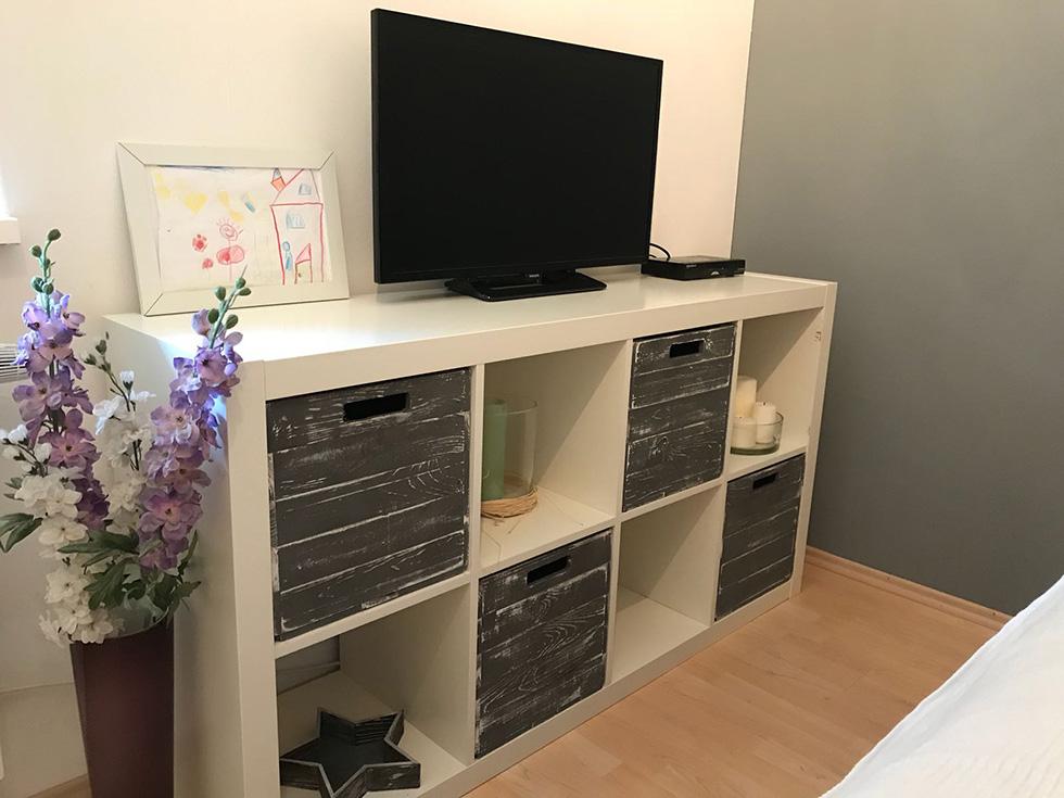 farbige produkte 4er set holzkiste shabby grau f r. Black Bedroom Furniture Sets. Home Design Ideas