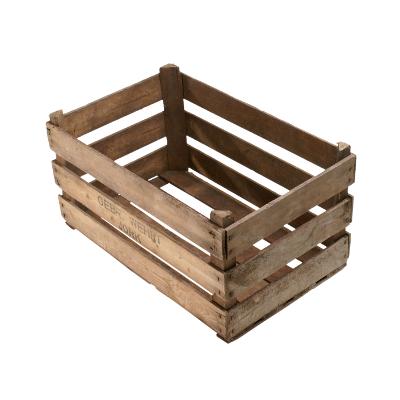 /// B-Ware /// Große 25kg Kiste mit Längsbodenbrettern 60x38x32cm