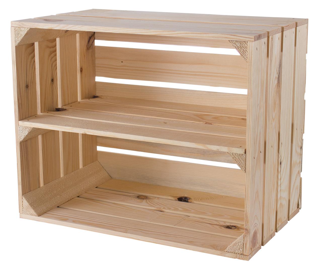 Holzkiste für Schuh- und Bücherregal 50x40x30cm