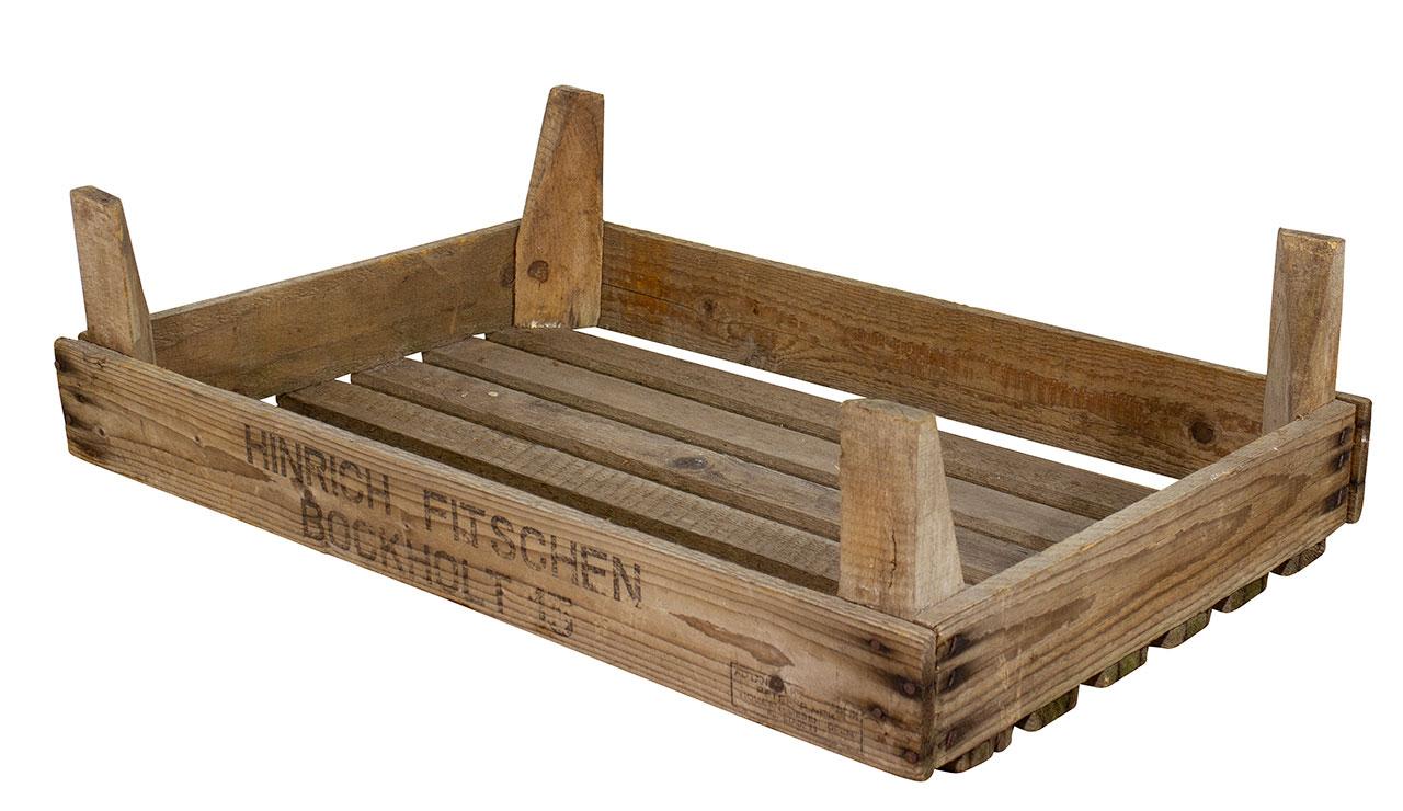 Stabile kleine Holzsteige 66x44x19cm