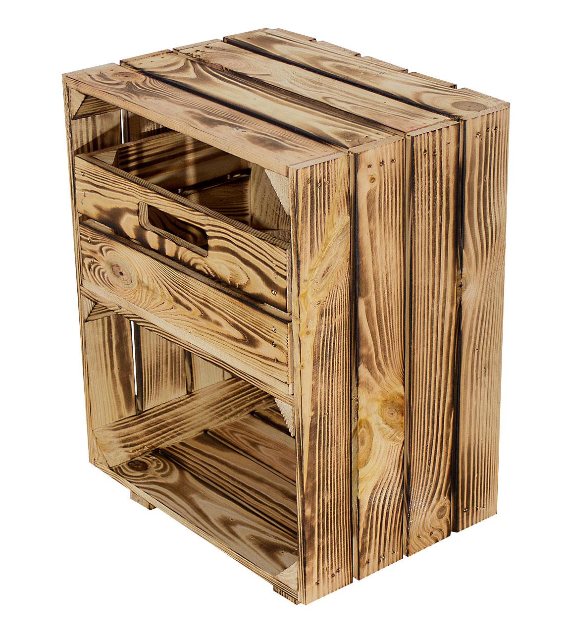 Geflammter Nachttisch mit Schublade 30,5x40x54cm