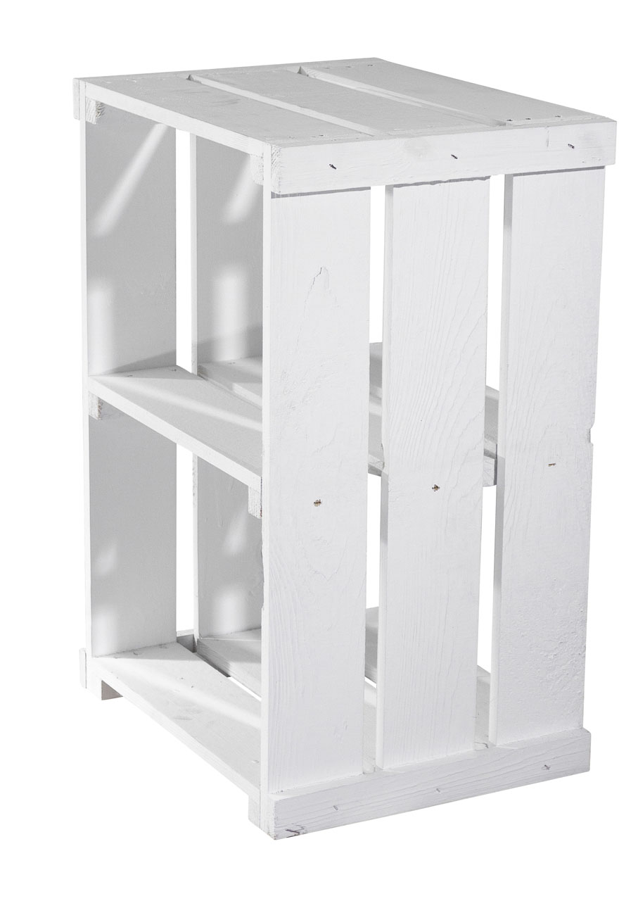 Moderner Beistelltisch in weiß 50x35x27cm