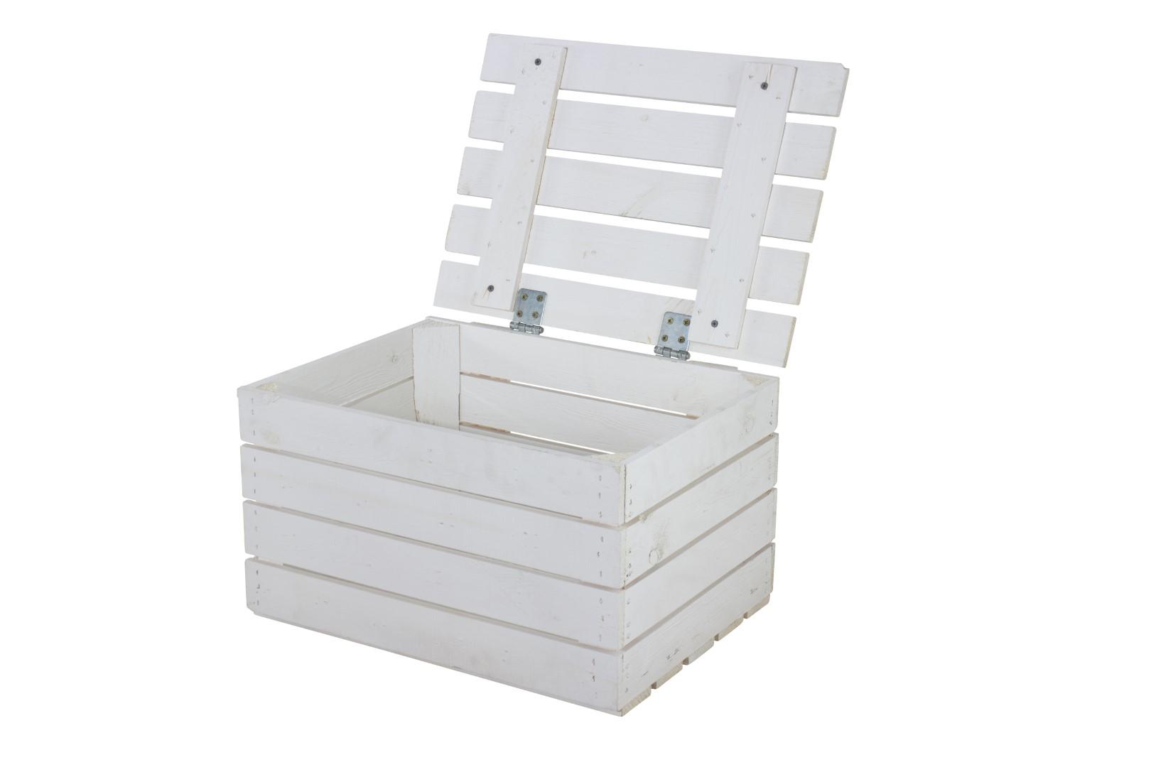 Neue Holztruhe in weiß *klein* 48x36x28cm