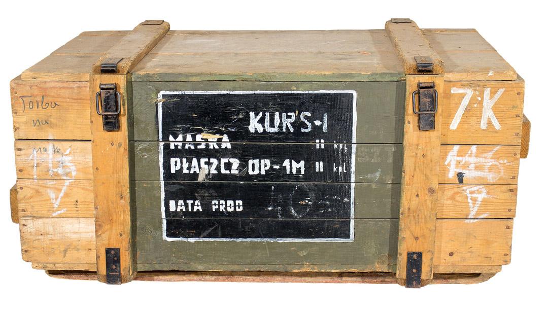 Historische große Munitionskiste in natur optik 105x60x40cm
