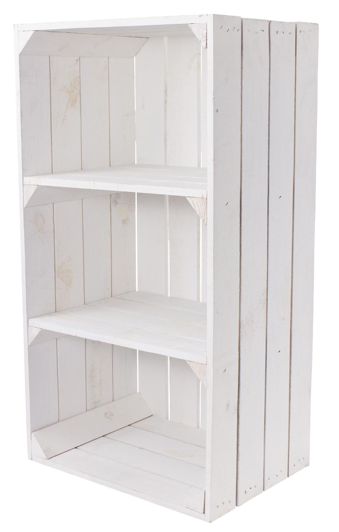Weiße schmale Regalkiste 75x40x31cm