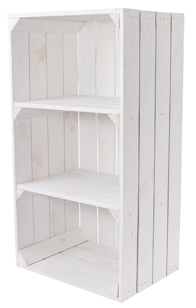 Weiße schmale Regalkiste 68x40x31cm