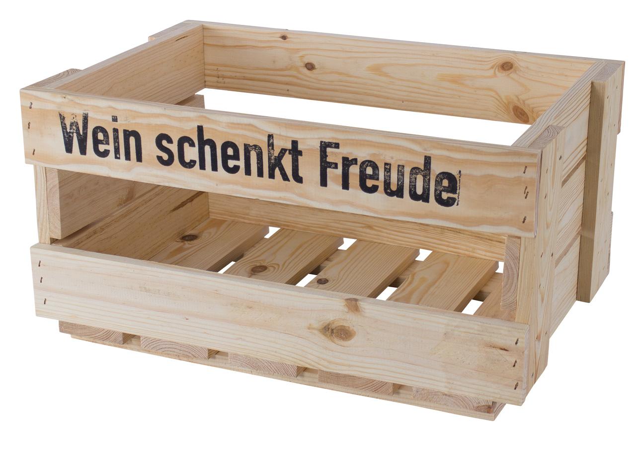 Neue Weinkiste - Wein schenkt Freude 46x30,5x24cm