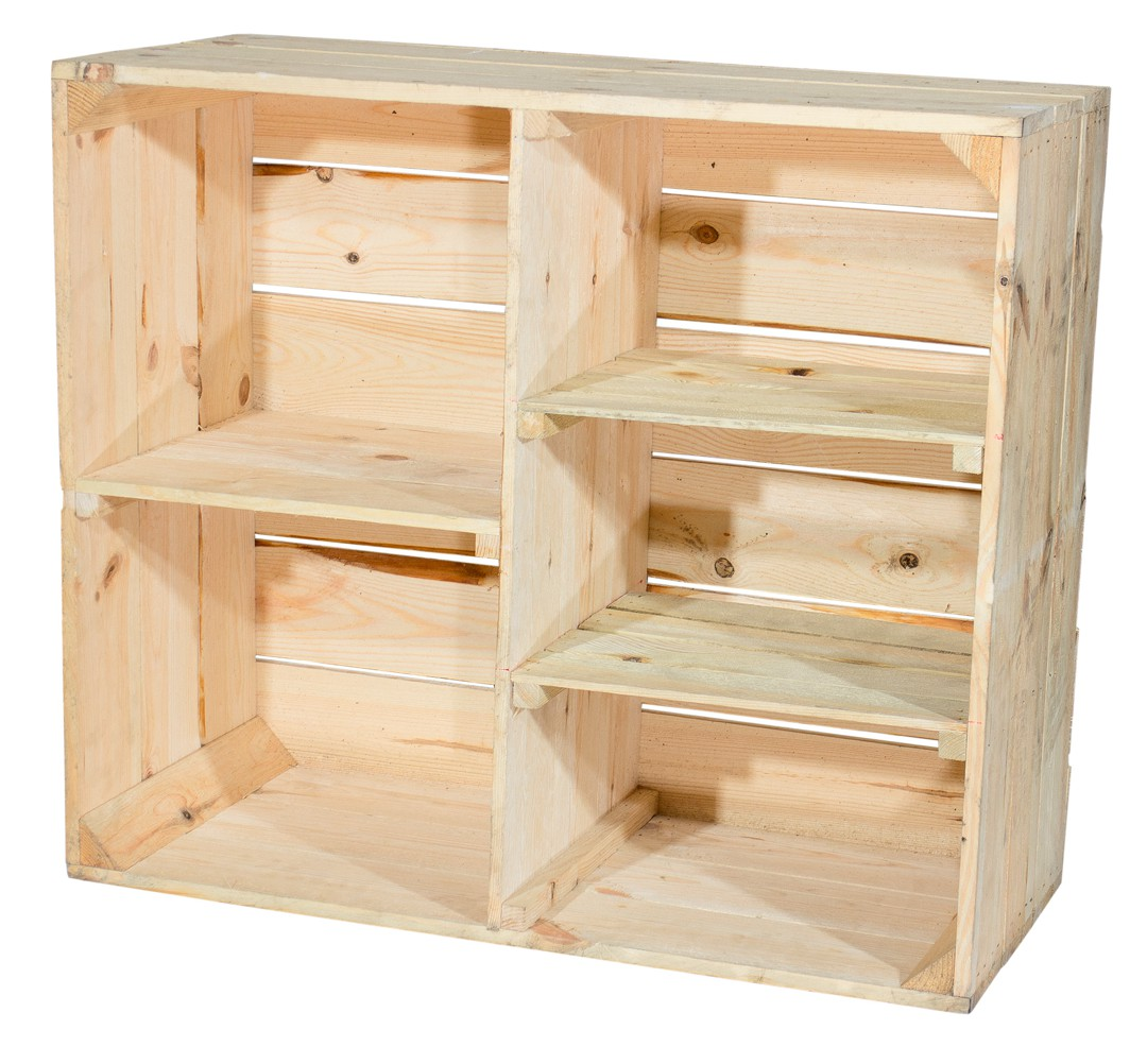 holzschrank mit 3 mittelbretter und trennbrett natur 77x68x35cm ebay. Black Bedroom Furniture Sets. Home Design Ideas