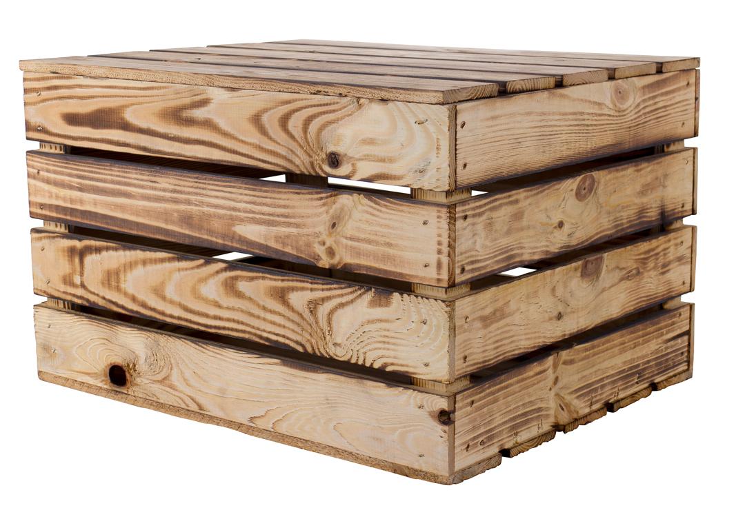 54x Neue Holztruhe geflammt *klein* 48x36x28cm