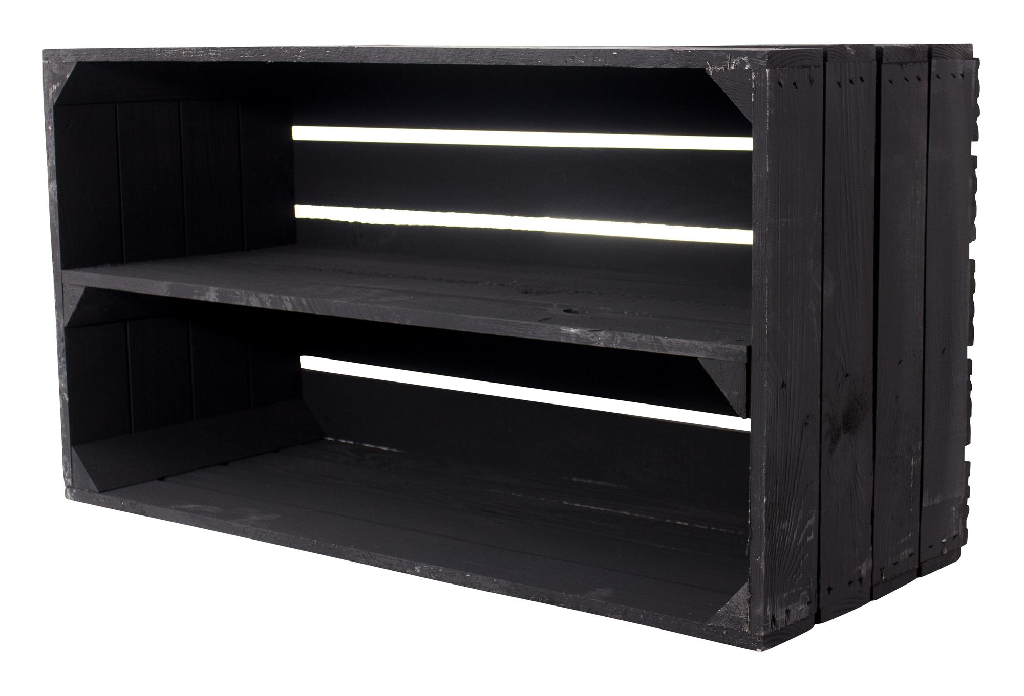 Breite schwarze Kiste 68x40,5x31cm