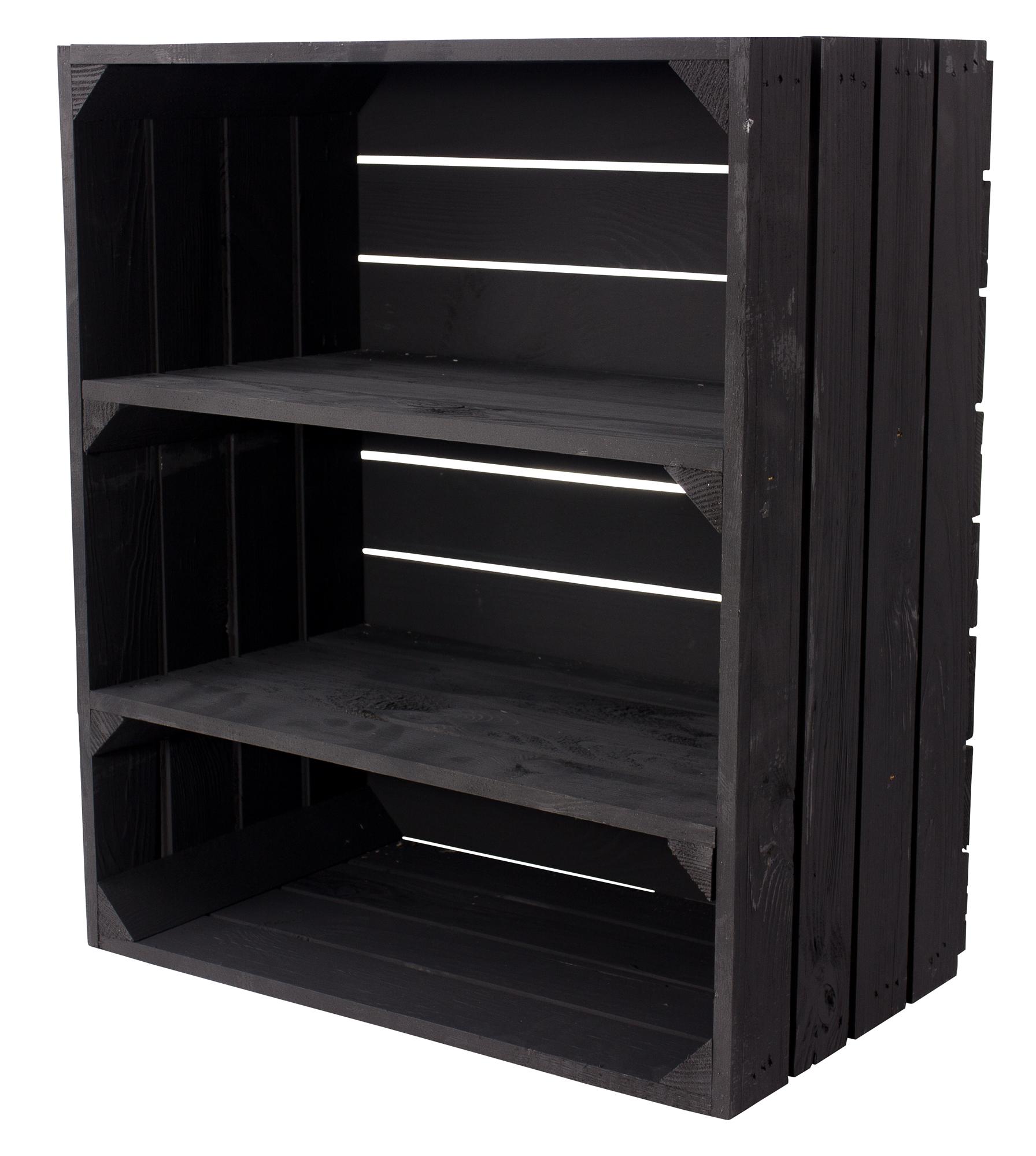 Hohe schwarze Kiste 61x50x31cm