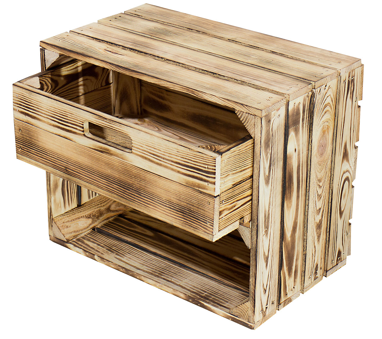 36x Geflammte Kiste mit Schublade
