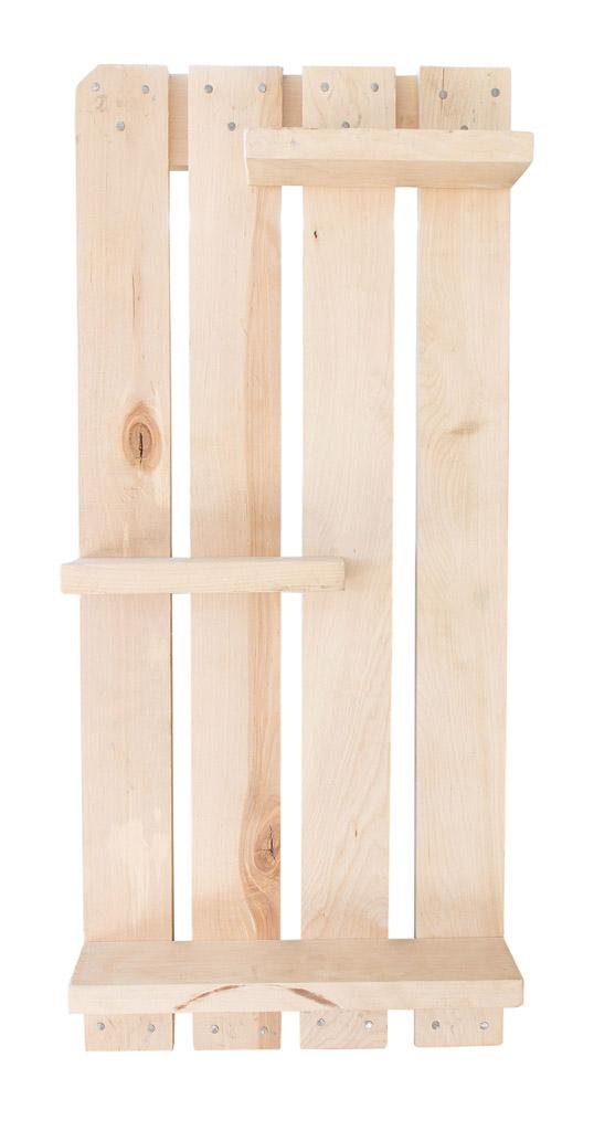 restposten m bel regal aus palettenholz natur optik 76x33x11cm obstkisten. Black Bedroom Furniture Sets. Home Design Ideas