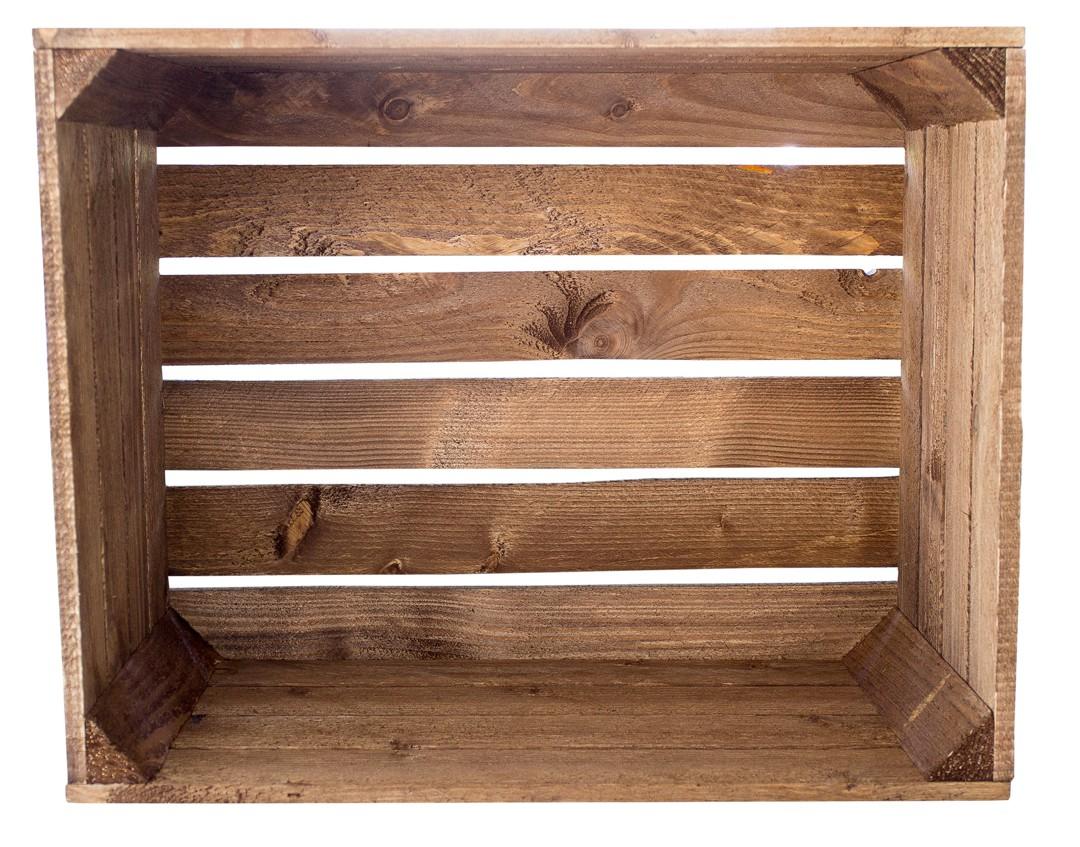 dunkel sch ne gebeizte apfelkiste 50x40x30cm obstkisten deutschlands gr te. Black Bedroom Furniture Sets. Home Design Ideas