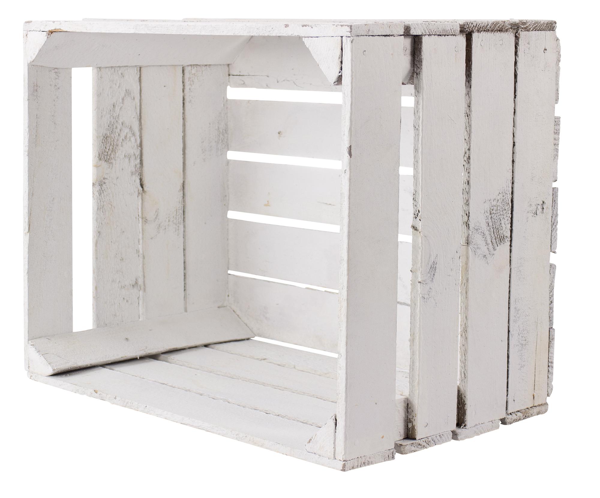 Alte weiße Holzkiste 50x40x30cm