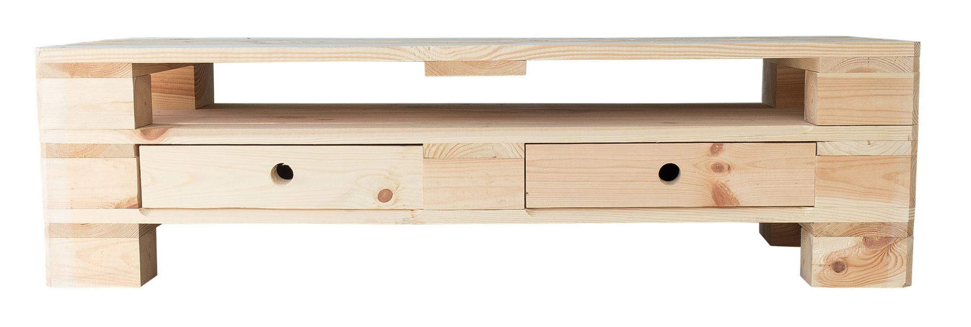 restposten m bel tv lowboard aus palettenholz 120x47x44cm obstkisten. Black Bedroom Furniture Sets. Home Design Ideas