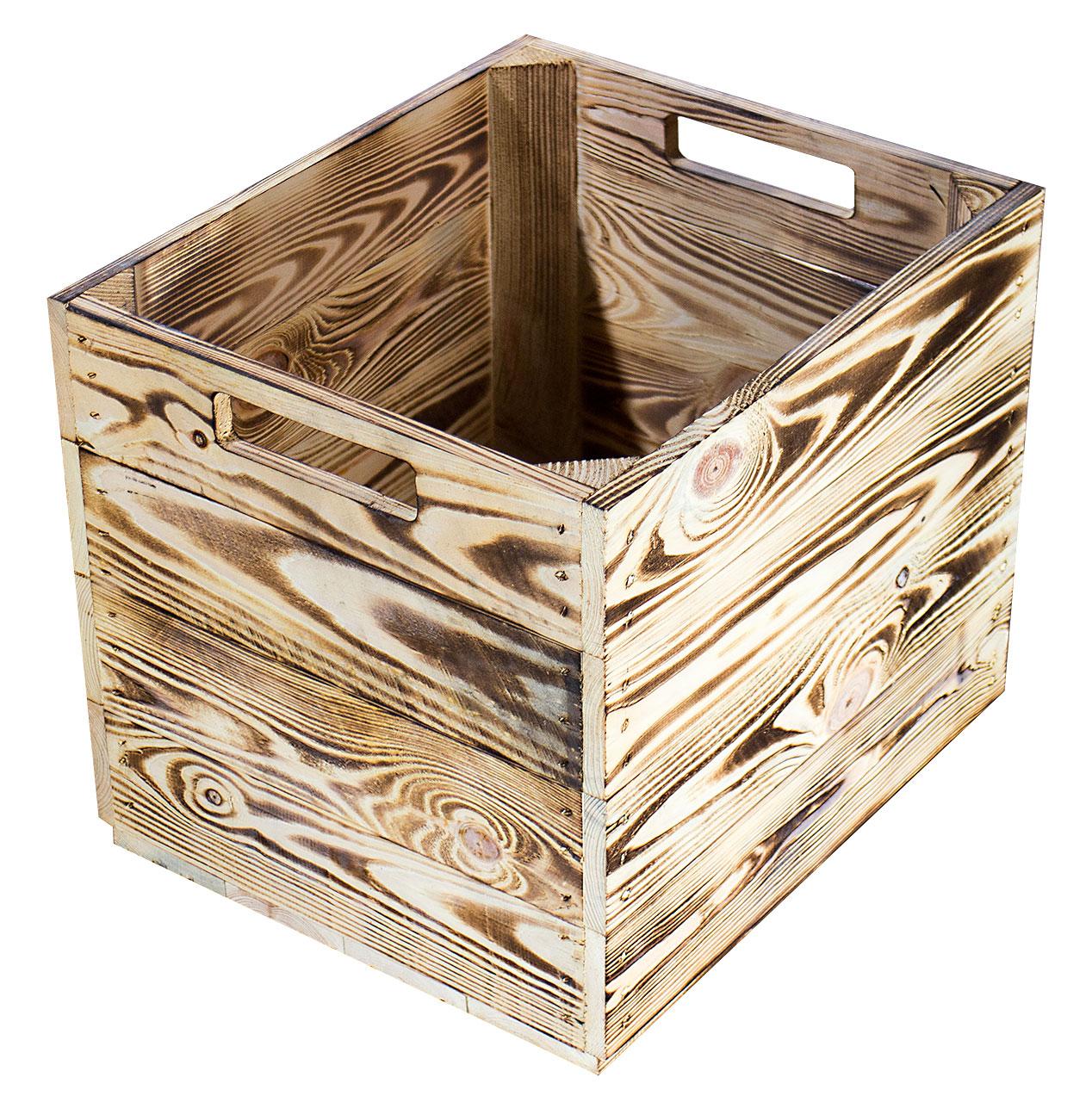Geflammte Kiste für Kallax Regale 33x37,5x32,5cm