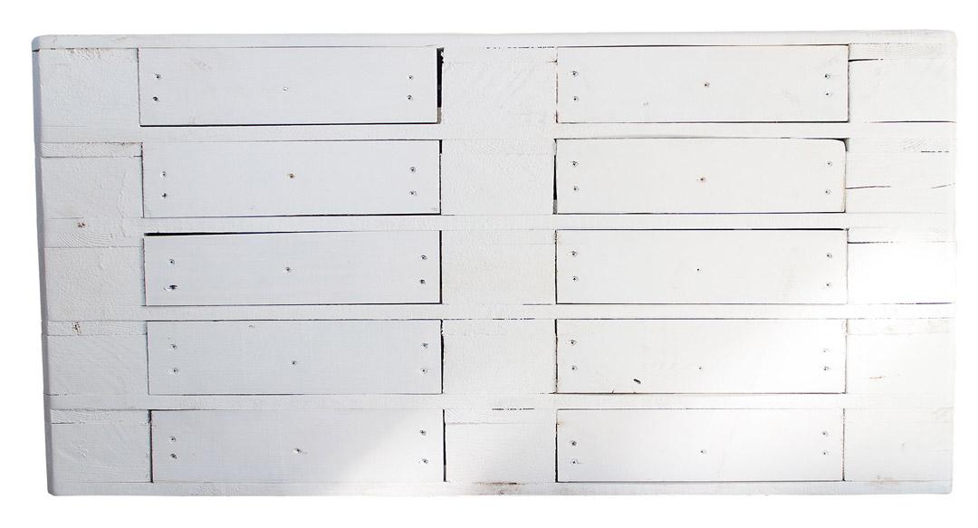 Vintage Kommode aus Palettenholz - White Edition 120x47x72cm