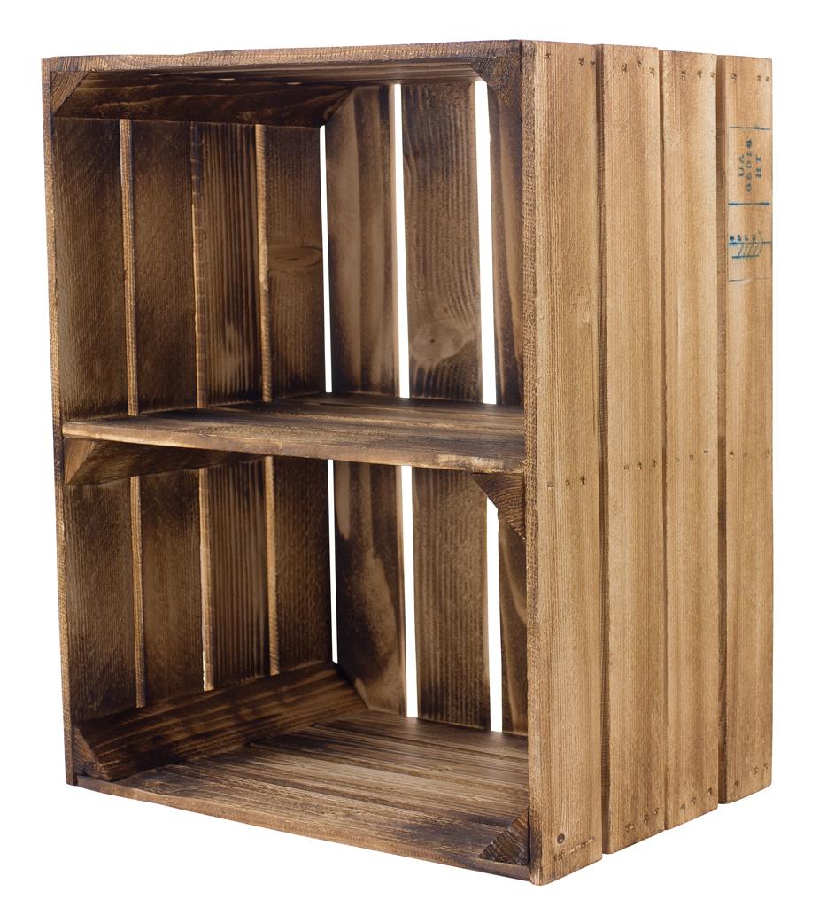 Geflammte Kiste für Schuh-und Bücherregal