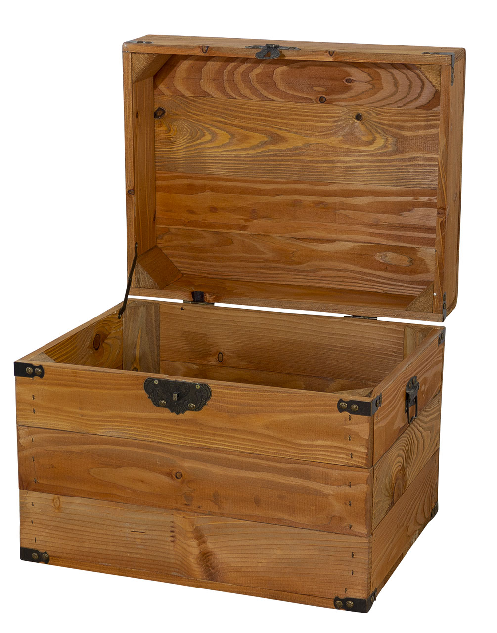 Kleine Holzkiste mit Deckel im schönen Braunton 45x35x35xcm