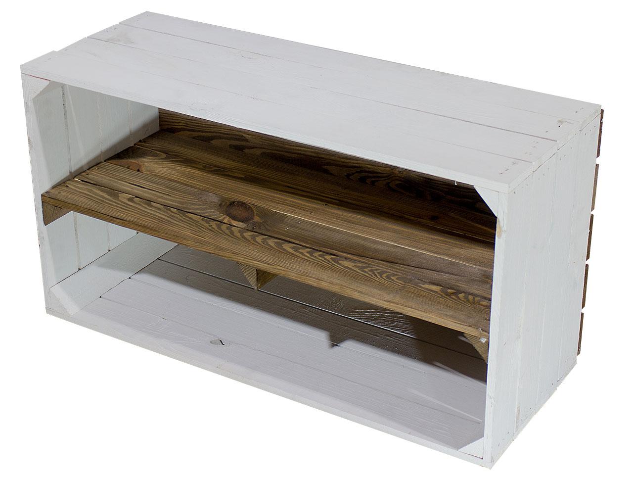 Breite weiß used Kiste 74,5X40,5X31CM