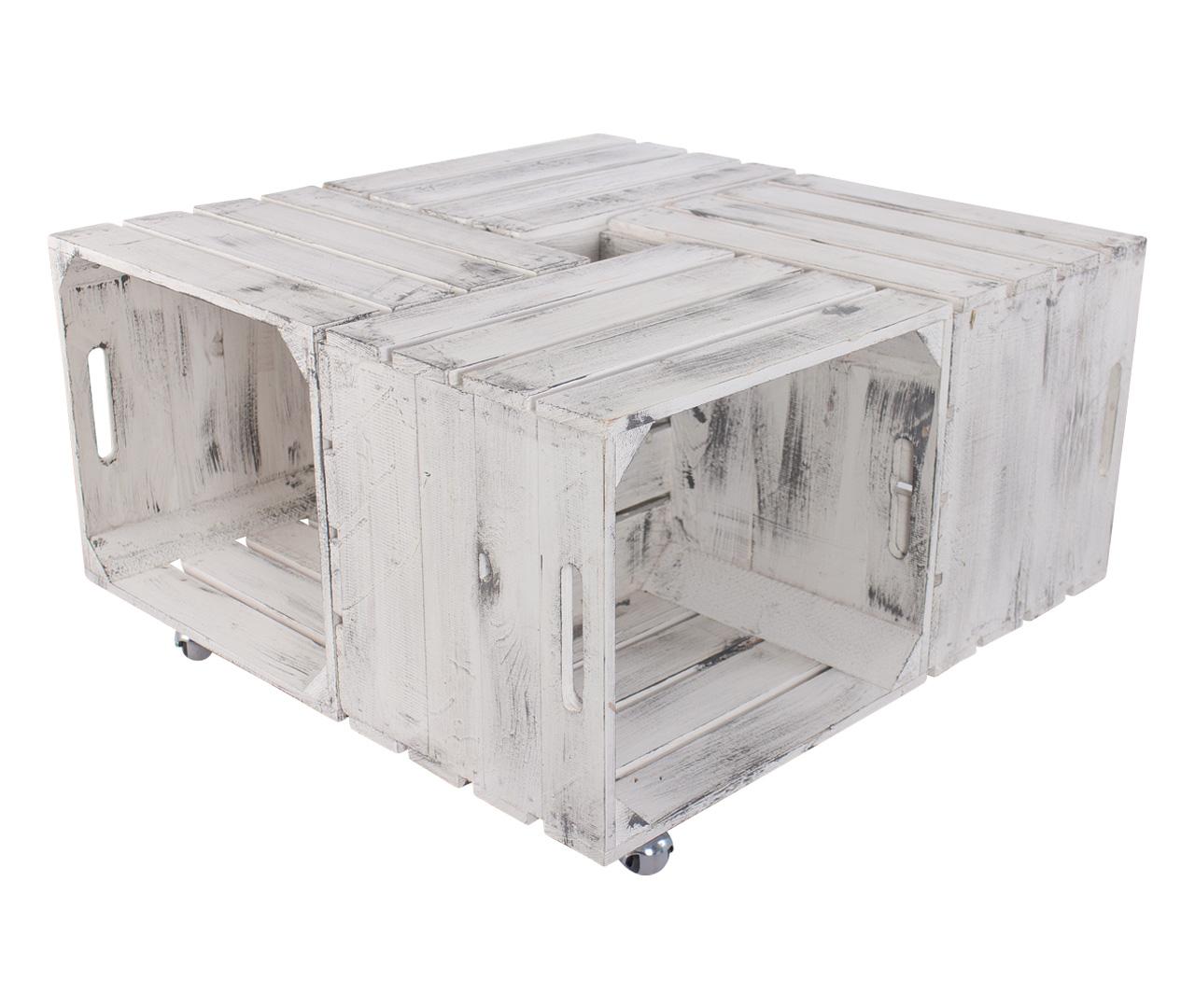 Couchtisch aus Kallax Kisten im Shabby look 72,5x72,5x37cm