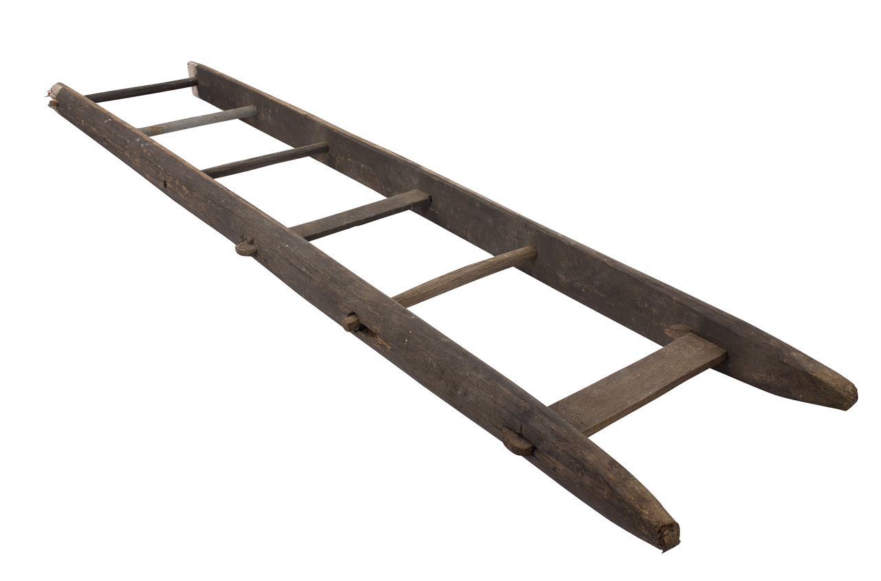 Historische Altländer Holzleiter 165cm
