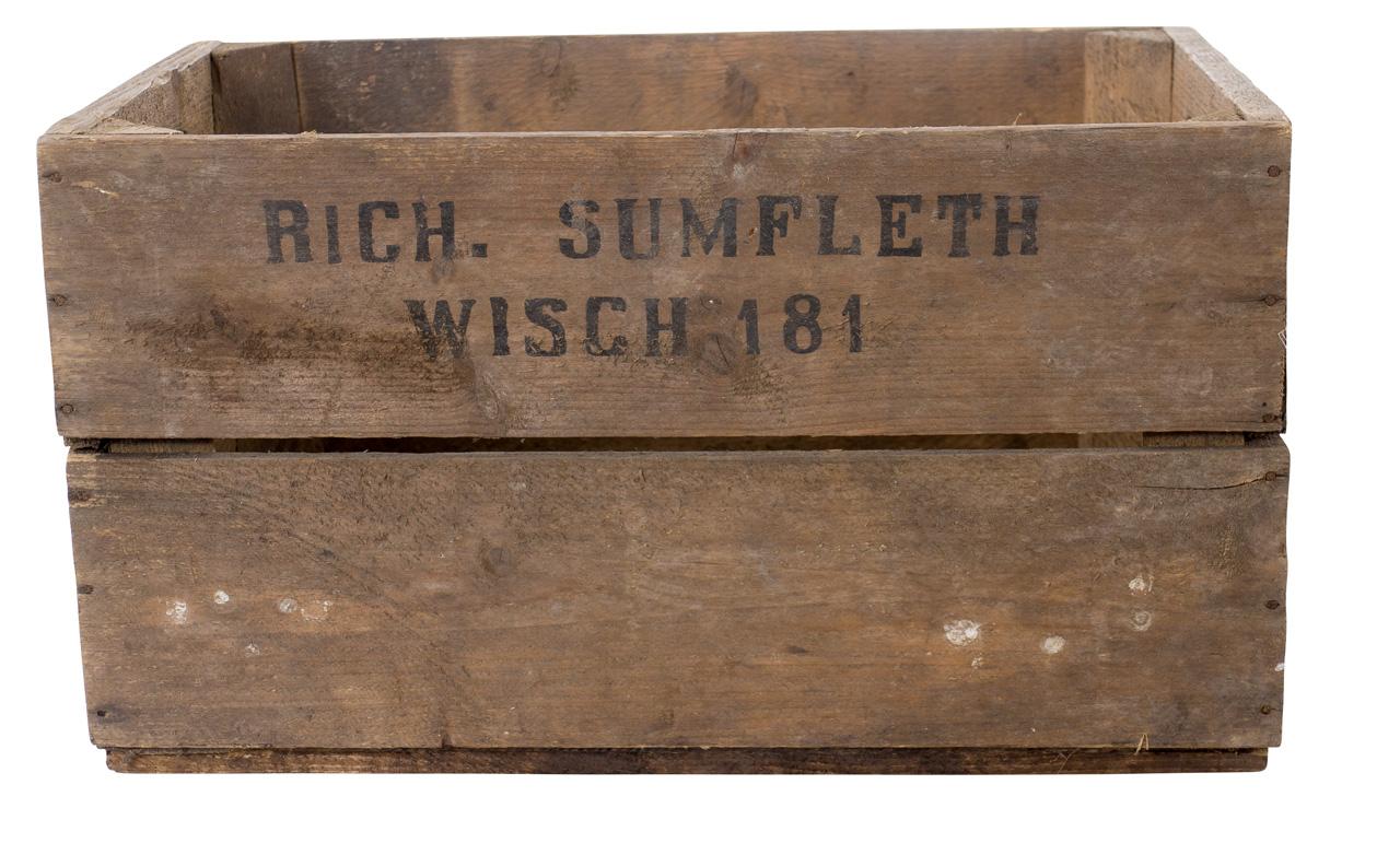 Birnenkiste mit 2 Seitenbrettern 49x30x28cm