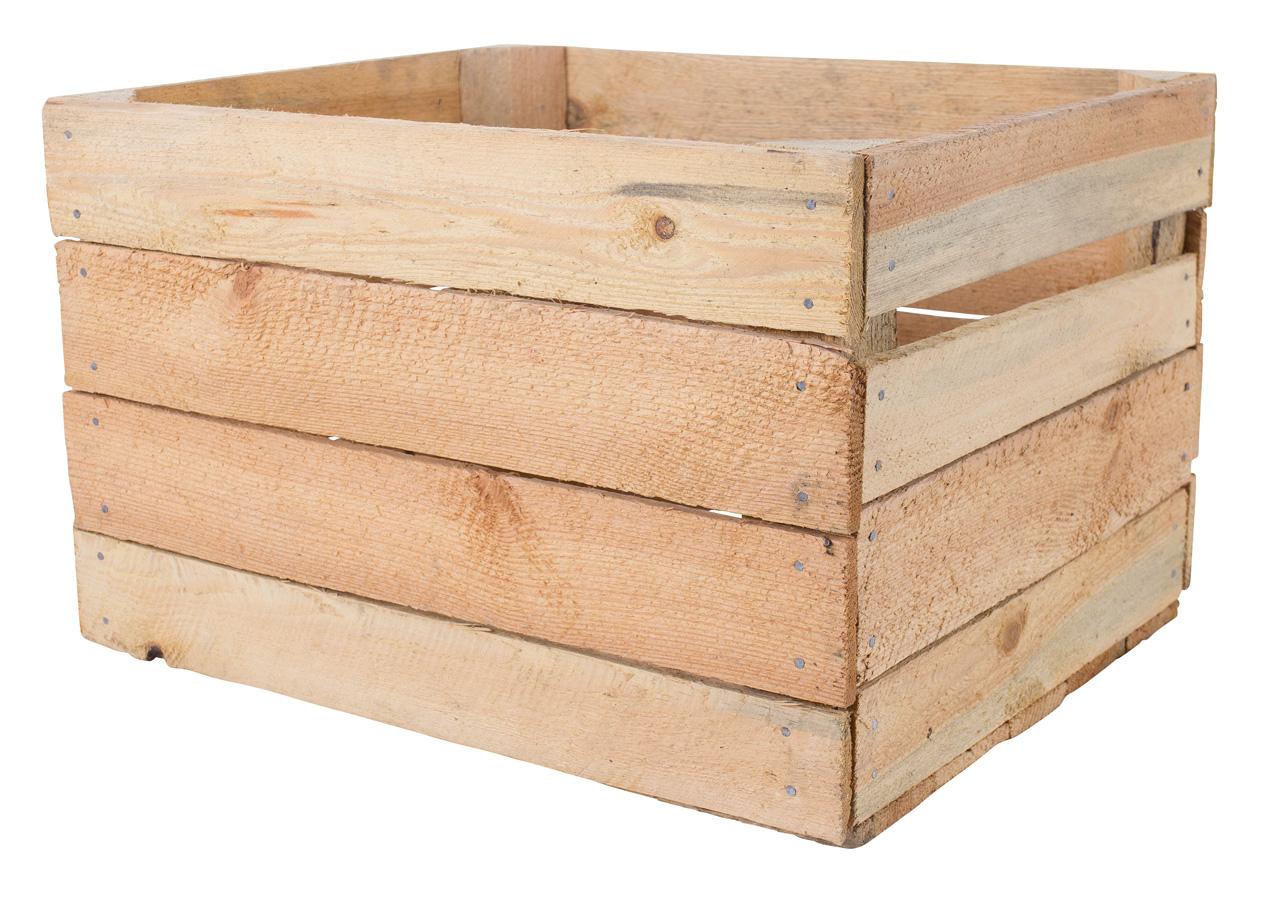54x Stabile helle Kiste ohne Aufdruck 50x40x30cm