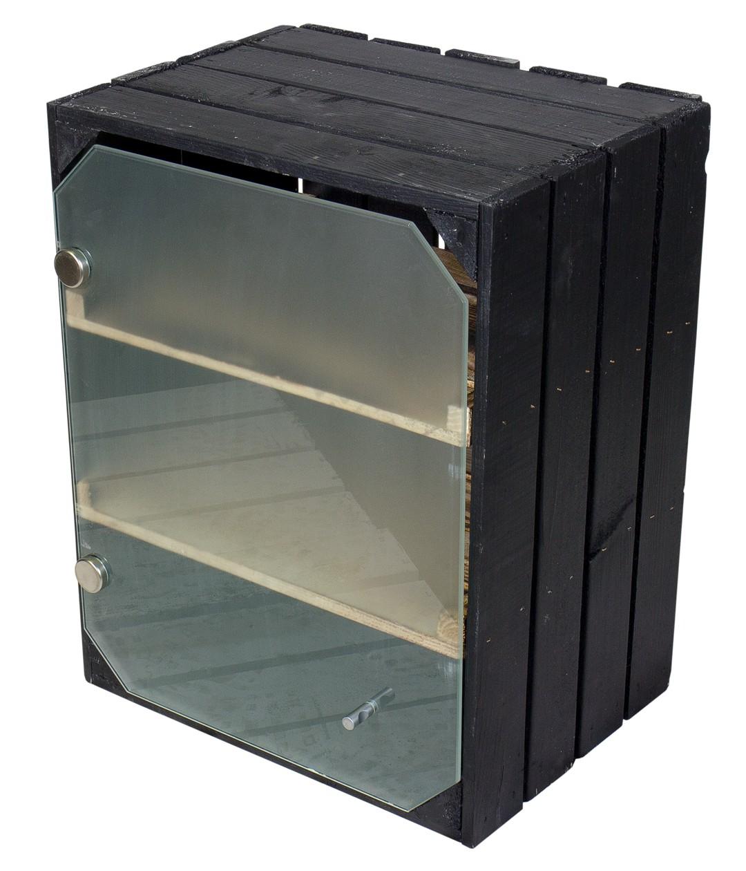 mit glast r milchglas obstkisten. Black Bedroom Furniture Sets. Home Design Ideas