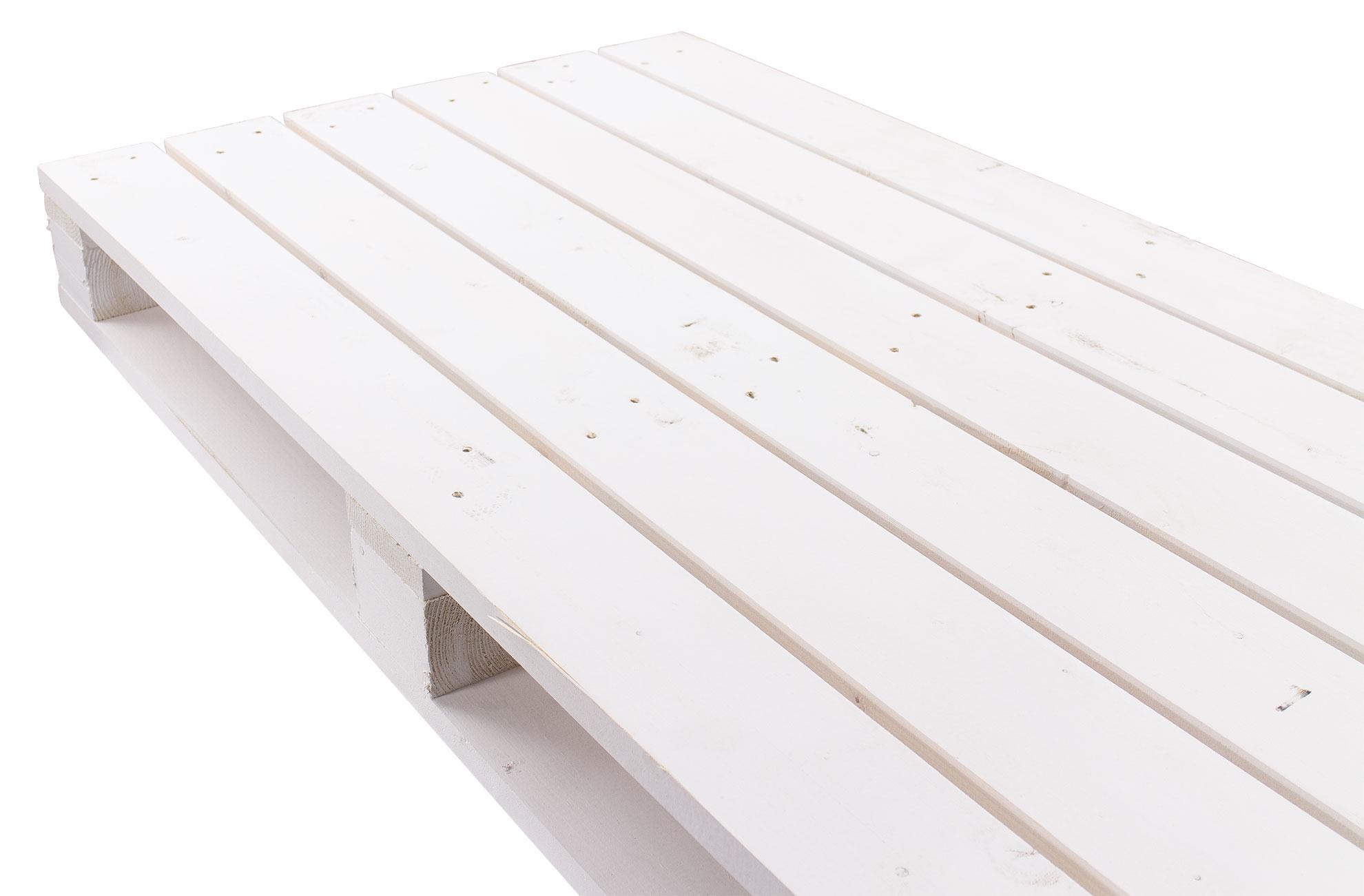 Palette in weiß 120x60x12,5cm