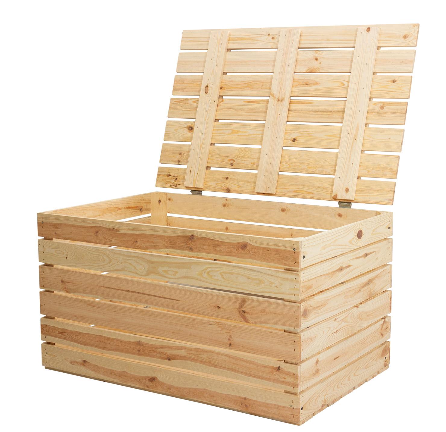 Neue Holztruhe natur *groß* 85x55x46cm