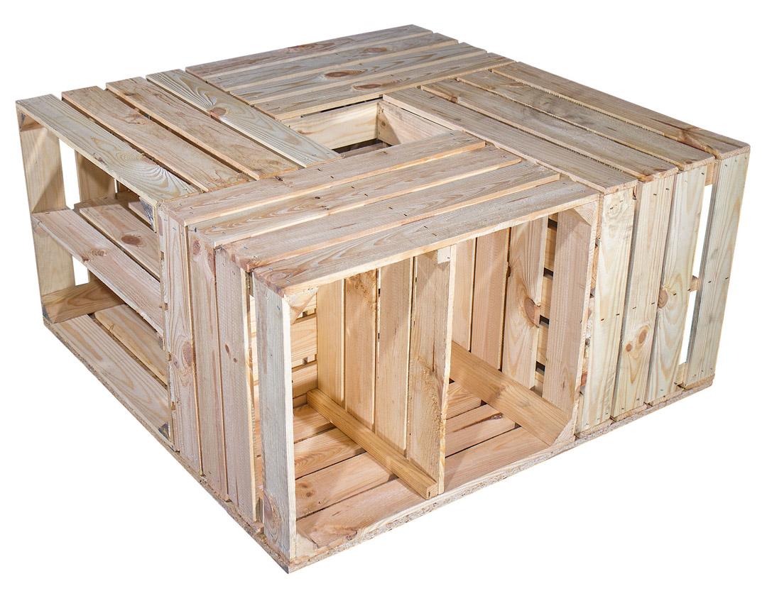 restposten m bel tisch aus versch hellen schuhkisten 81x81x40cm obstkisten. Black Bedroom Furniture Sets. Home Design Ideas