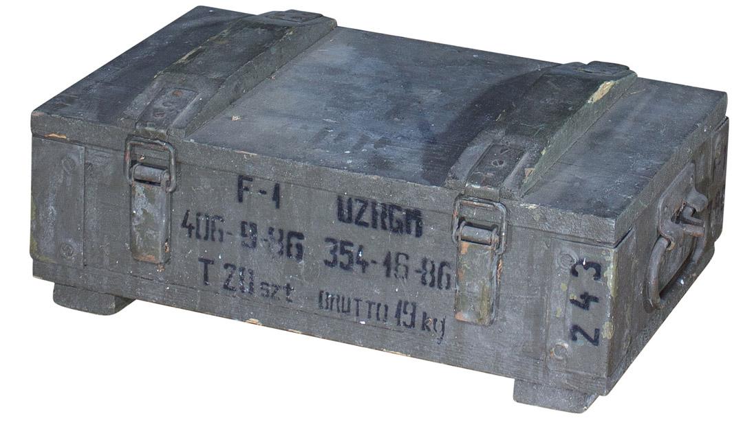 Grüne Munitionskiste 47×28×17cm