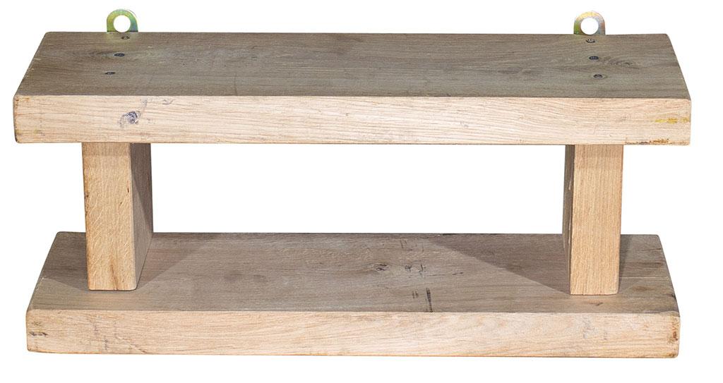 Kleines Regal aus Eichenholz - Natur optik 60x20x25cm