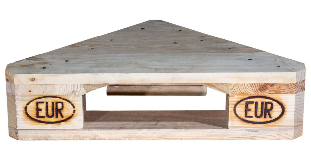 Eckregal aus Palettenholz 60x44x14,5cm