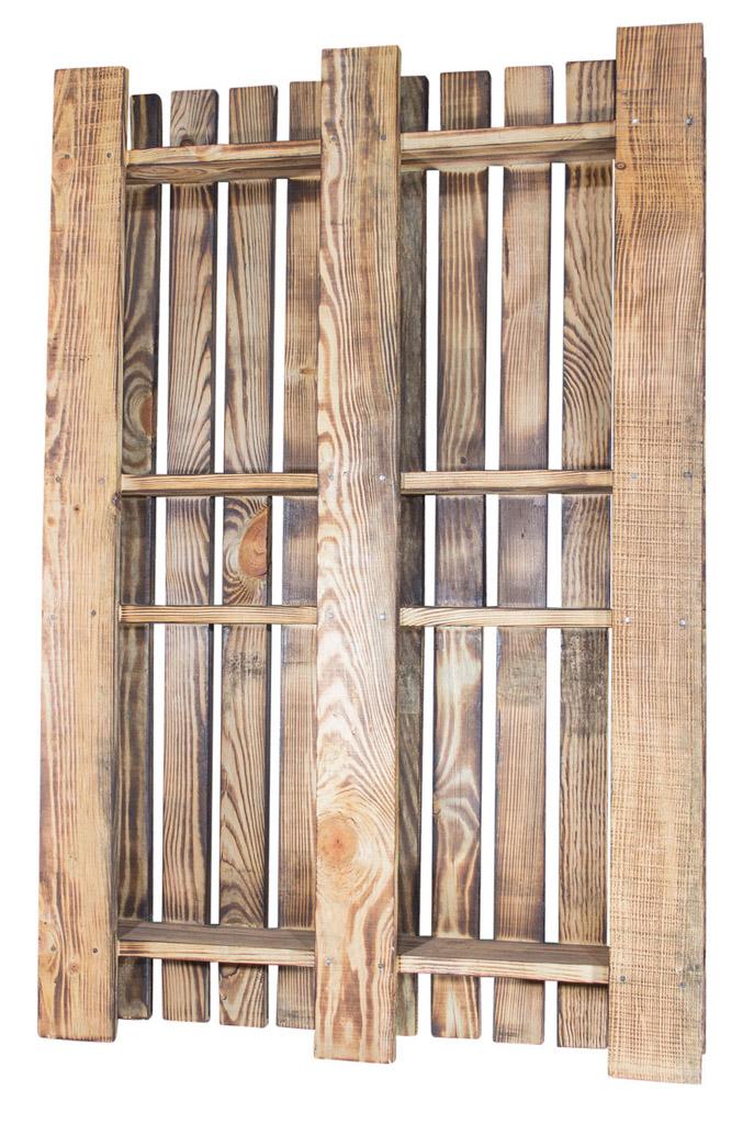 Geflammte Holzpalette zum Dekorieren 120x80x15cm
