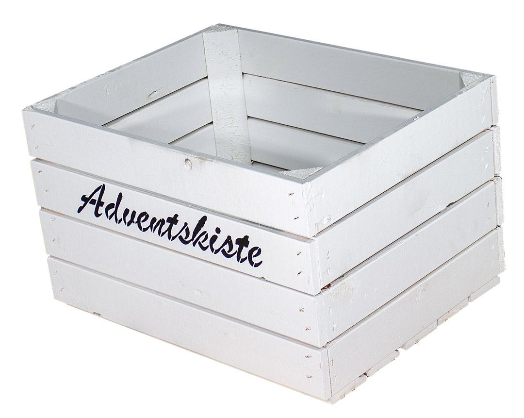 Weiße Kiste mit