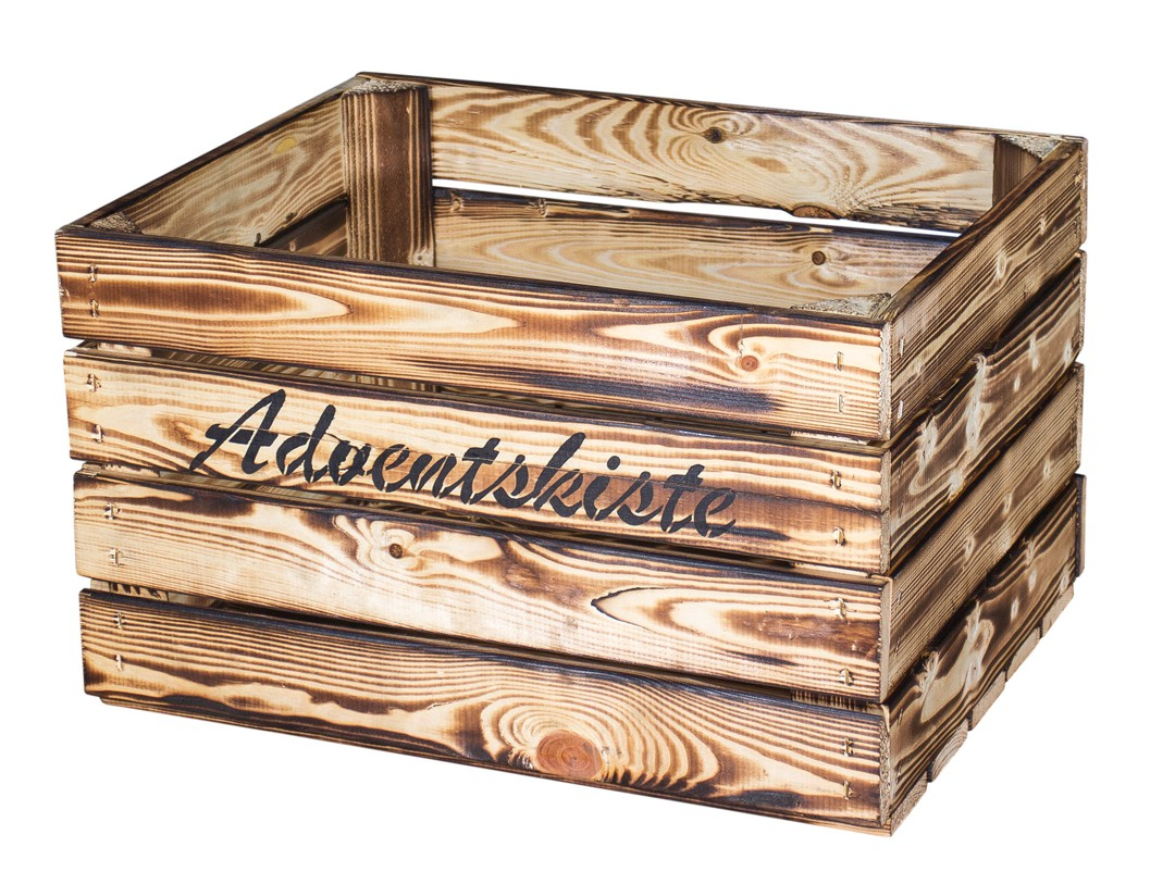 Geflammte Kiste mit